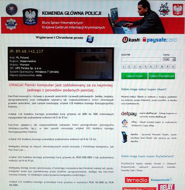 Wirus - Polska Policja Biuro Spraw Wewn�trznych Krajowe Centrum Informacji Krymi
