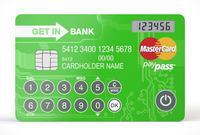 Mobilny portfel dla kryptowalut w postaci karty z wyswietlaczem