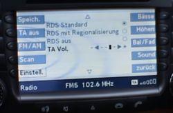 eklasa w211 radio w211 2005 rok brak nazwy stacji