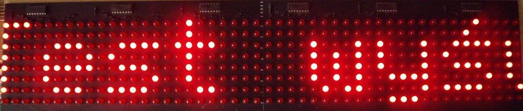 Sterownik wy�wietlacza matrycowego LED 8*48