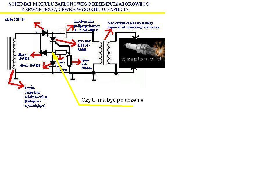 Zap�on CDI do kosiarki schemat