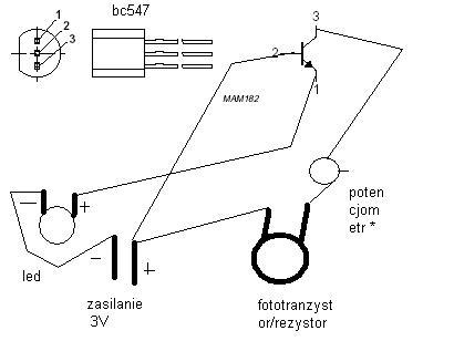 Wyłącznik zmierzchowy + fototranz + 5 bialych diod 3v