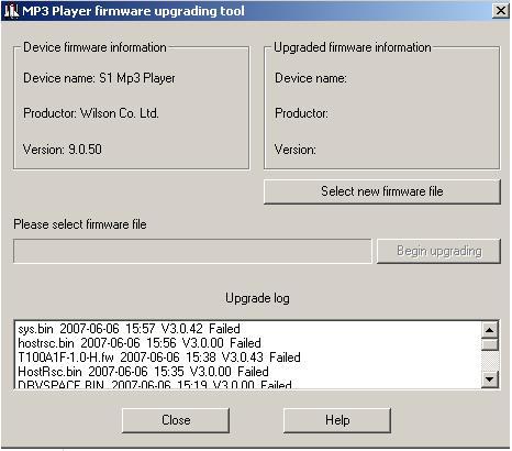 Wielka baza firmware do odtwarzaczy mp3 na kościach Sigmatel