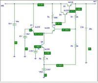 Projekt stabilizatora kompensacyjnego 0...10V, max 250 mA