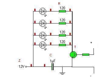 Diody LED migające w rymt basu + filtr. Prośba o sprawdzenie