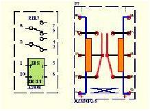Schemat podłączenia przekaźnika bistabilnego AZ850