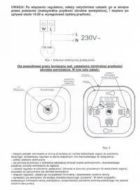 RP300 - Podłączenie regulatora RP 300 i wentylatora kanałowego Dospel