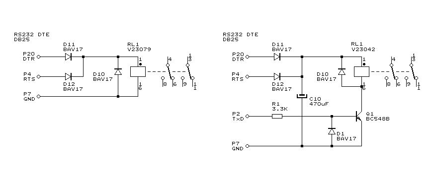 RS-232 klucz tranzystorowy i �r�d�a pr�du