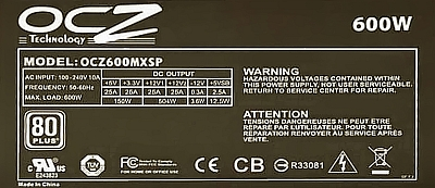 OCZ model: OCZ600MXSP ModXstream Pro 600W - Spalony uk�ad scalony jaki?