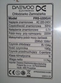[Zlecę] [Wrocław] Naprawa płyty głównej lodówki DAEWOO-FRS-U20GAI