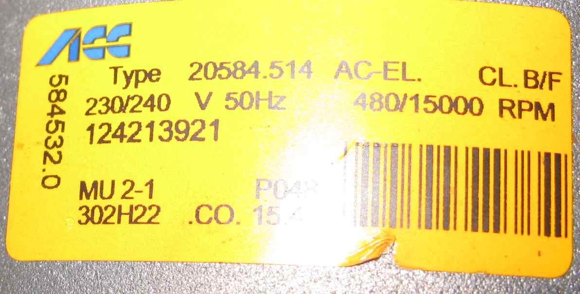 EWT13420W - Pralka szarpie, spalony rezystor obwodu tacho,jaka rezystancja tacho
