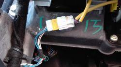 Mini Cooper S 163 KM 2003 r - Wycięte przewody połączenia AIRBAG pasażera