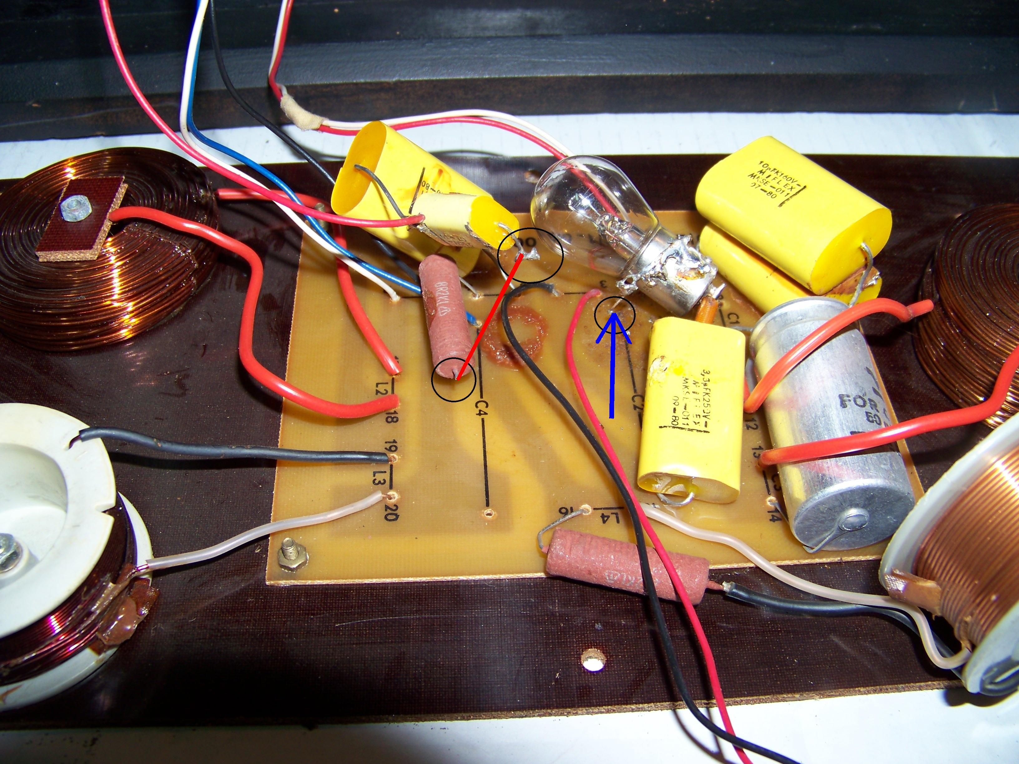 ZG60c201 schemat zwrotnicy, g�o�nik niskotonowy