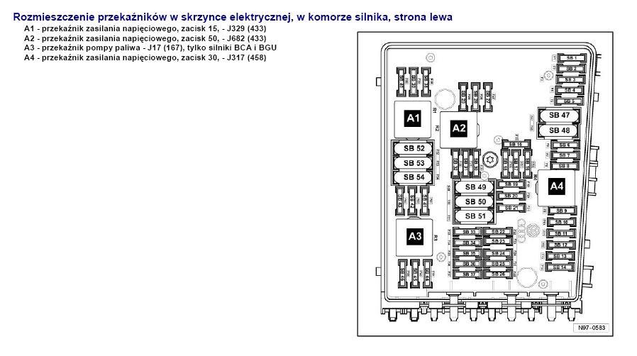 Brak zasilania Skoda Octavia  1.9 TDI 2008 rok.