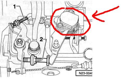VW Polo III 1.9D AEF - prze��cznik podwy�szenia biegu ja�owego-pompa Lucas