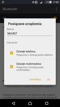 Sony xperia m2 łącznie z głośnikiem przez bluetooth połączono(bez multimediów)