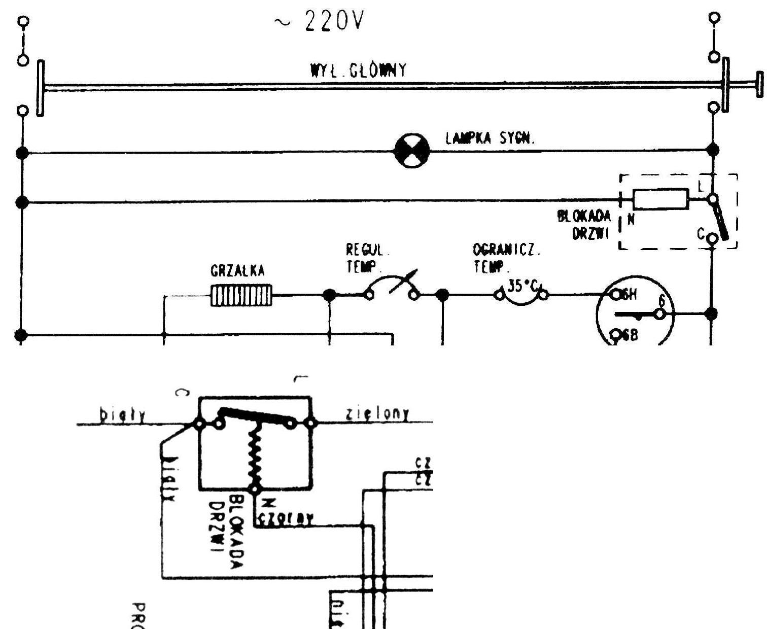 Pralka, Polar PDH 585, wybija bezpieczniki
