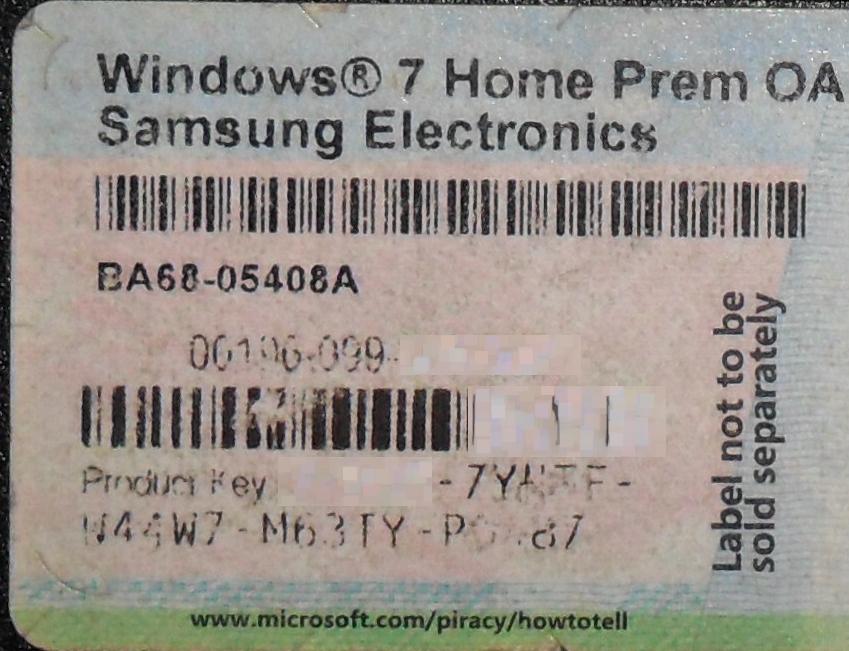on Windows 10 Product Key Box