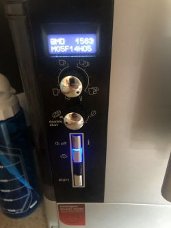 Ekspres Siemens EQ 5 TE503201RW/12 CTES32 - komunikat: usterka kontakt serwis