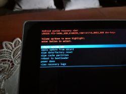 Lenovo tablet Yoga 2-1050L - Ciągle tryb awaryjny, nie można zrobic recovery