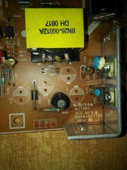 Samsung 920N Prośba o lokalizacje kondensatorów zasilacza MJ19BS