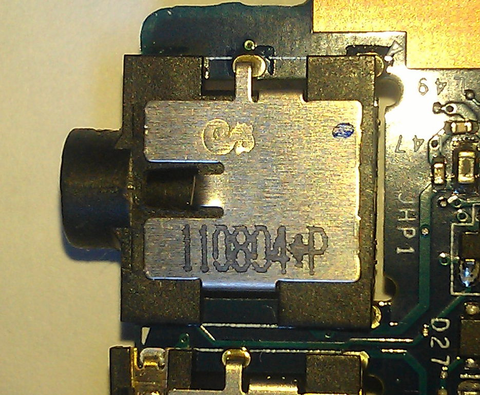 Acer Aspire 5755g - Identyfikacja producenta gniazda jack audio combo 3.5 mm