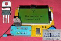 """Nie udany pomiar układy LM317T testerem """"LCR T-4 Mega 328"""""""