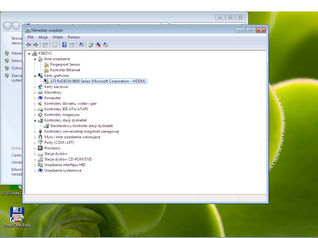 ati radeon 9600 pro agp 128mb + windows 7 brak wsp�pracy