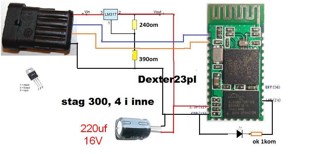 BTM-USBA1 mod - Pomys� na stworzenie interfejsu do z��cza diagnostycznego LPG