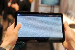 Koncepcyjny tablet Synapticsa wykrywający chwyt ręki