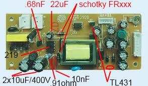 Tamashi DV368 HDMI v.2 - Zasilacz -identyfikacja uk�adu DIP8