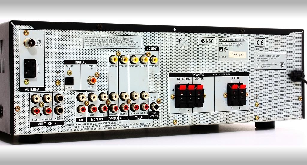SONY STR-DE475 - Podłączenie gramofonu do amplitunera SONY STR-DE475