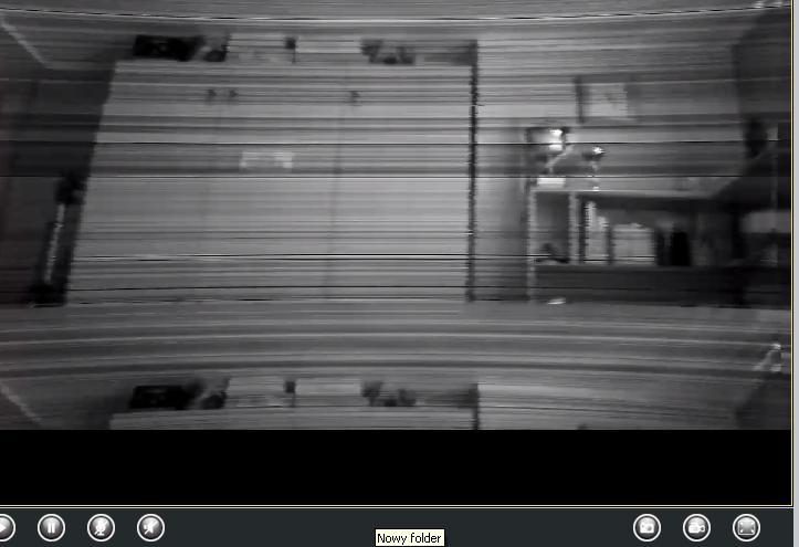 Foscam FI8921W - Obraz - poziome pasy po pod��czeniu.