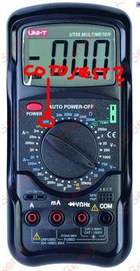 Multimetr UNI-T UT55 nie mierzy rezystancji