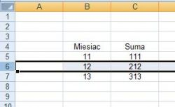 Excel tableka sumowanie pól