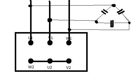 Prądnica z silnika 3 fazowego klatkowego