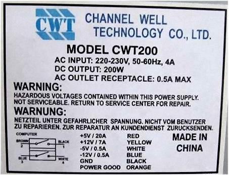 Channel Well Technology model:CWT200 brak napi�� wyj�ciowych po modyfikacji AT