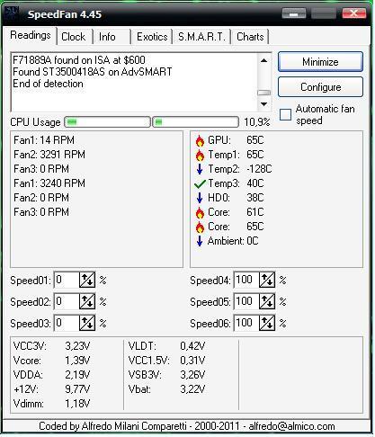 Komputer sam się wyłącza.