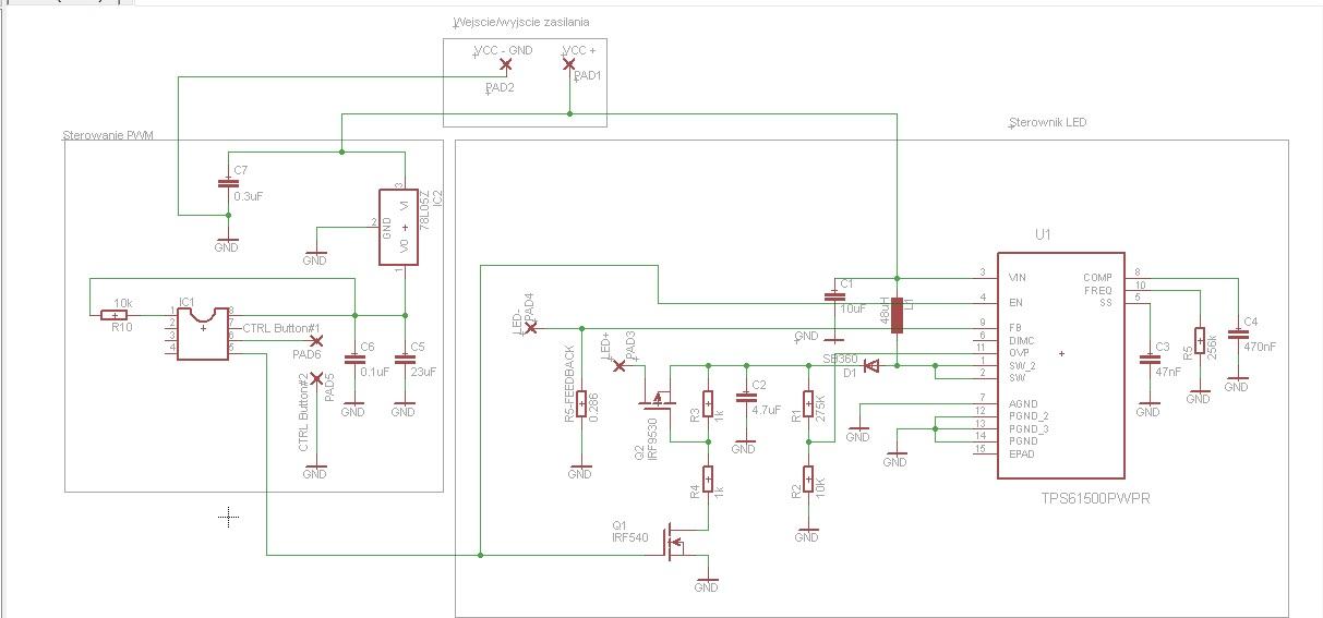Sterownik LED TPS61500 8x 3W LED - pro�ba o sprawdzenie poprawno�ci
