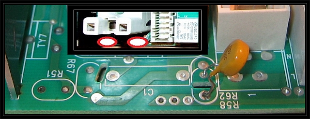 Pralka Mastercook PFE104 - moduł sterujący - jakiego elementu brakuje?