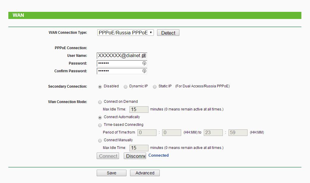 Router TP-Link + modem ZTE ZXDSL 832 Series
