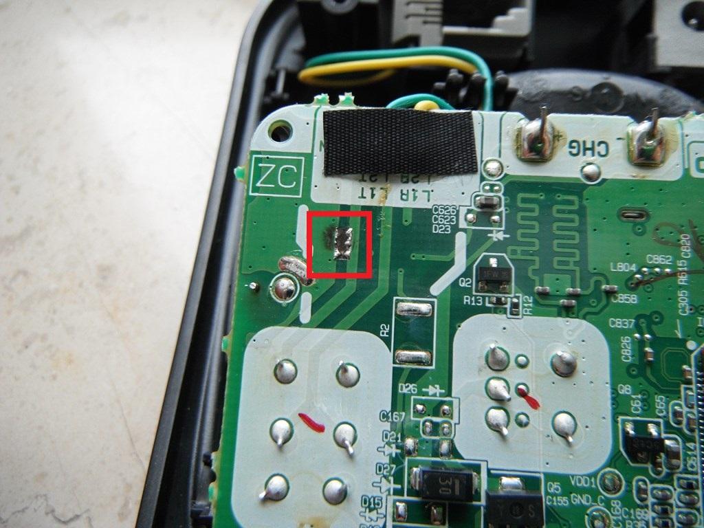 Uszkodzenie na p�ycie telefonu Panasonic KX-TG2511PD