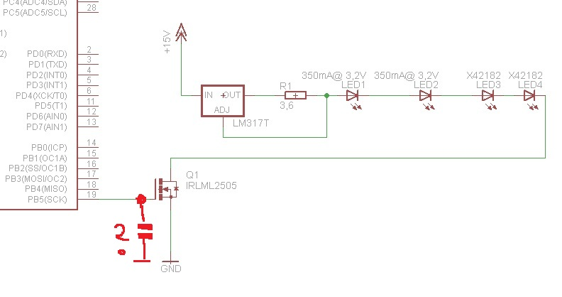 LEDowe o�wietlenie drogi sterowane ATmeg�