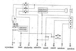Podłączenie domofonu UNIFON TK6 do 4 żyłowej sieci