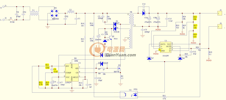 LiteOn model: 0335A1965 - Przer�bka z +19V na mniejsze napi�cie...