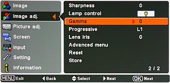 Sanyo PLV-Z4 - Projektor bardzo słabo świeci.