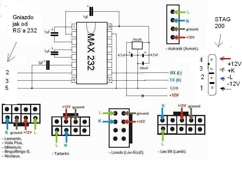 Типовые схемы адаптеров для