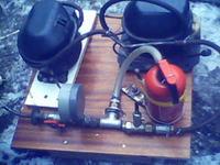 kompresor z dwóch agregatów lodówkowych:)