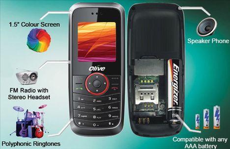 Olive FrvrOn V-G2300 telefon komórkowy na baterie AAA