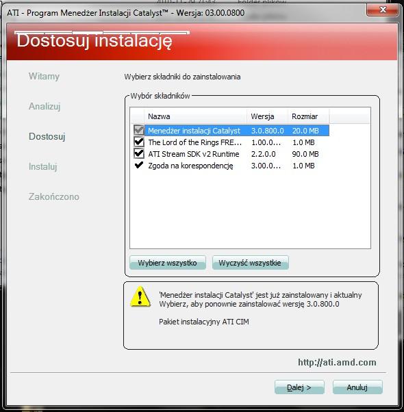 ATI Radeon Mobility HD2600 - Problem z modowanymi sterownika
